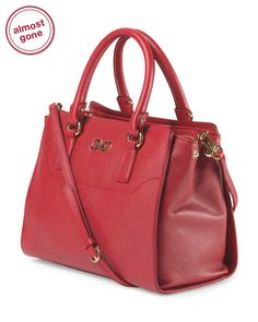 Made In Italy Saffiano Leather Small Beky Tote