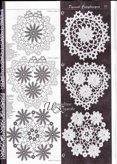 "Photo from album ""Дуплет on Yandex. Irish Crochet Patterns, Crochet Doily Patterns, Crochet Flowers, Crochet Russe, Flower Chart, Russian Crochet, Crochet Triangle, Crochet Tablecloth, Crochet Magazine"