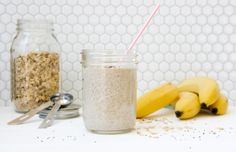Banana Almond Chia Smoothie - I Will Not Eat Oysters Smoothie Recipes, Smoothies, Oysters, Food To Make, Almond, Banana, Stuffed Peppers, Juices, Eat