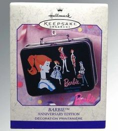 Hallmark Barbie Anniversary Edition-Lunchbox ornament-NIB