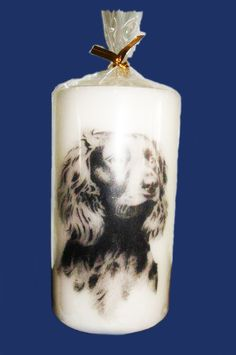 Printed Candle, dog