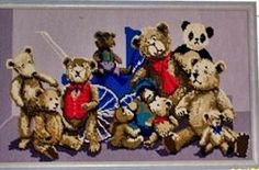 Tapestry I made for my first born Over The Years, Folk Art, Teddy Bear, Tapestry, Toys, Animals, Hanging Tapestry, Animales, Tapestries