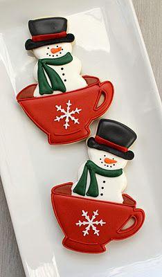 Snowman Teacups
