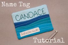 Name tag tutorial