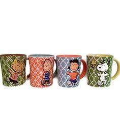 Peanuts - Set of 4 Mugs: Snoopy & Woodstock Linus Sally and Lucy @ niftywarehouse.com #NiftyWarehouse #Peanuts #CharlieBrown #Comics #Gifts #Products