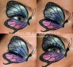 crazy makeup looks Cool Makeup Looks, Crazy Makeup, Love Makeup, Looks Cool, Makeup Art, Butterfly Makeup, Butterfly Eyes, Butterfly Kisses, Butterflies