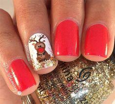 Christmas Reindeer Nails
