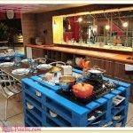 8 Bancadas de Cozinha com paletes