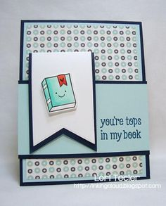 You're Tops in my Book card/bookmark