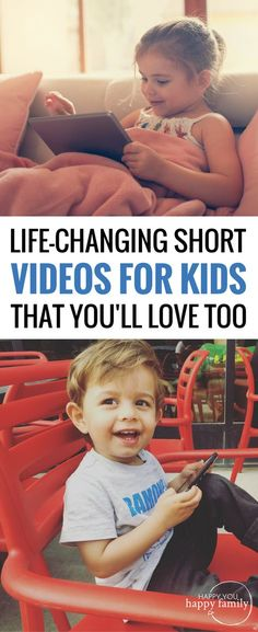 Forget Peppa Pig! These are the BEST short YouTube videos for kids because they share a meaningful life lesson without being annoyingly preachy. Bookmark this list of kid videos and save it for the next time your kid begs for a video! #videosforkids #kidsvideos #youtubevideo via @kellyjholmes