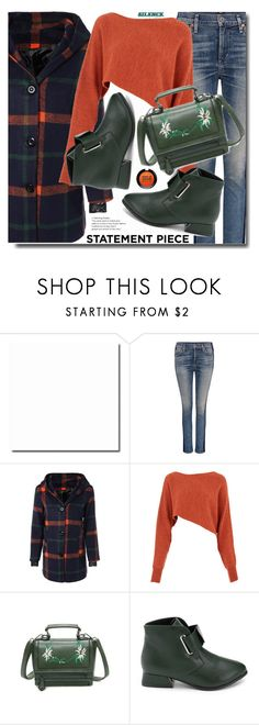 """""""Statement Coats"""" by soks ❤ liked on Polyvore featuring Citizens of Humanity, Crea Concept, MAKE UP FOR EVER and statementcoats"""