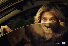 """Creative Directors Sergio Valente and Rodolfo Sampaio of DDB Brazil created a cool campaign for Zoo Safari with a clever take on the tagline, """"Blend In."""" Other human/animal image mashups in this series that might cause you to do a double take include a man morphing into a gorilla and a man blending seamlessly with a tiger."""