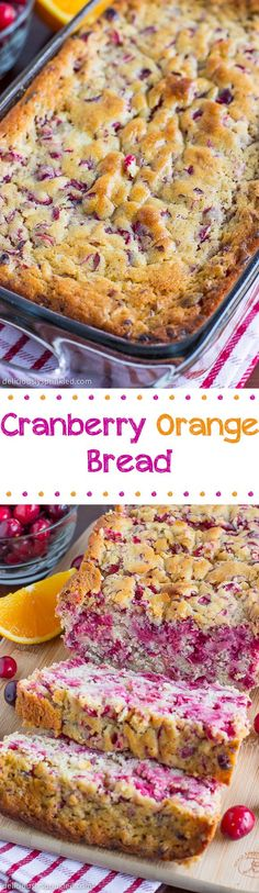Cranberry Orange Bread- an easy recipe to make for Thanksgiving breakfast.
