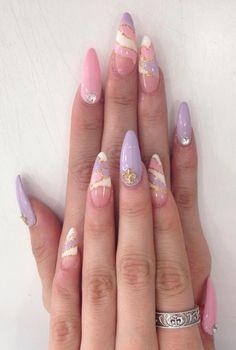 Nail art galleries, cute nails, my nails, pretty nails, purple acrylic nail Best Acrylic Nails, Acrylic Nail Designs, Nail Art Designs, Unique Nail Designs, Purple Acrylic Nails, Purple Nail Art, Hair Designs, Cute Nails, Pretty Nails