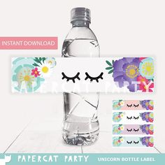 Unicorn Water Bottle labels/ Unicorn Drink Label/ Unicorn