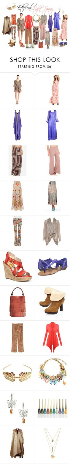 Ethereal Light Spring by expressingyourtruth on Polyvore featuring Mode, Halston Heritage, Rachel Pally, Ratt by Rita Attala, Alice + Olivia, Maison Rabih Kayrouz, Temperley London, Calypso St. Barth, The Seafarer and UGG Australia