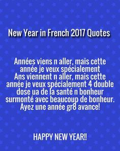 Happy New Year 2017 Wishes Greetings, Images in French Language