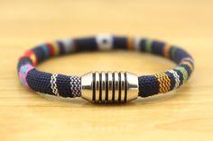 Mens Bracelet, Mens Rope Bracelet, Rope Bracelet, Stainless Steel Clasp…