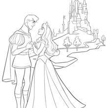 Dibujo Para Colorear La Bella Durmiente Y Su Principe Bella Durmiente La Bella Durmiente Disney Dibujos Para Colorear
