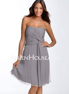 Homecoming Dresses - $89.99 - A-Line/Princess Sweetheart Knee-Length Chiffon  Charmeuse Homecoming Dresses With Ruffle (022009354) http://jenjenhouse.com/A-line-Princess-Sweetheart-Knee-length-Chiffon--Charmeuse-Homecoming-Dresses-With-Ruffle-022009354-g9354