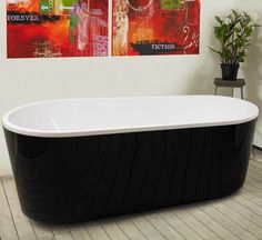 Kylpyamme Monte 1701, 320l, 1580x740mm, musta Downstairs Bathroom, New Homes, Bathtub, House, Dreams, Standing Bath, Bathtubs, Home, Bath Tube