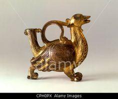 fine arts, Middle Ages, sculpture, dragon aquamanile, 12th century, Lorraine, Wurttemberg State Museum, Stuttgart, historic, his            ...