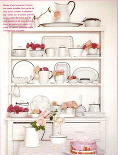 Esprit country from Marie Claire Idees - love the all-white enamel