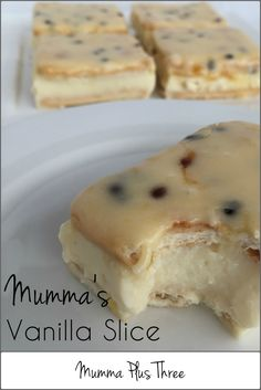 The most delicious Vanilla Slice recipe, it's quick and easy with traditional and Thermomix instructions. Cookie Recipes, Snack Recipes, Snacks, My Favorite Food, Favorite Recipes, Bellini Recipe, Delicious Desserts, Yummy Food, Aussie Food