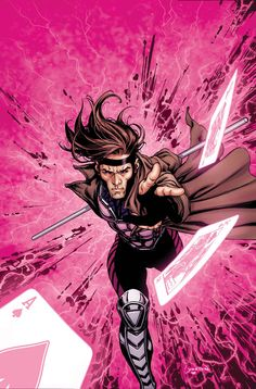 Gambit.  Art by David Yardin.  I'd rather see him on the Defenders than with the X-Men.