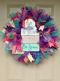 """My Little Mermaid "" Deco Mesh Wreath"