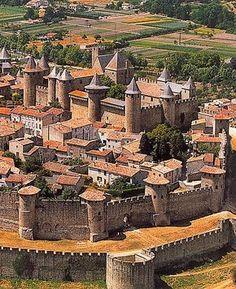 La cittadella del castello di Carcassonne.