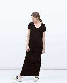 a3580b510b Image 1 of LONG STRIPED DRESS from Zara Plain Dress