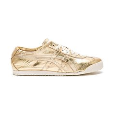 Onitsuka Tiger Mexico 66 (1.295.865 IDR) ❤ liked on Polyvore featuring men's fashion, men's shoes, men's sneakers, sneakers, mens metallic shoes, mens lace up shoes, onitsuka tiger mens shoes and mens metallic gold sneakers