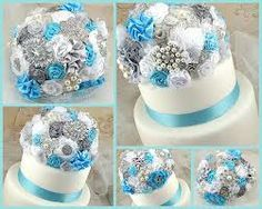 turquoise and silver wedding - Google Search
