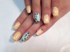 My new nails #nailmaster.lv #nail #leopard #pastel