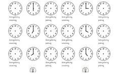 Nauka zegara dla dzieci do druku: Karty pracy, gotowe szablony do wycinania Words, Horse