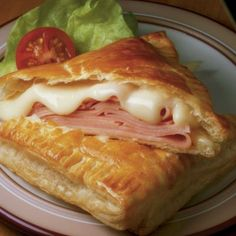 Pastry ham and cheese