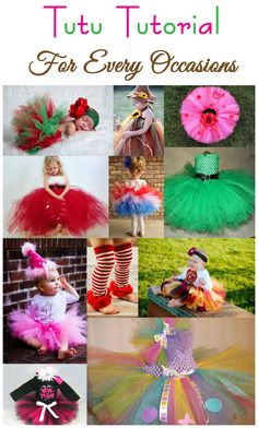 A tutu for every occasion! My little girl if I have one will definitely be rockin the tutu's :-) No Sew Tutu, Diy Tutu, Tulle Crafts, Diy Crafts, Tulle Projects, Ribbon Tutu, Tutu Tutorial, Foto Baby, Princess Tutu