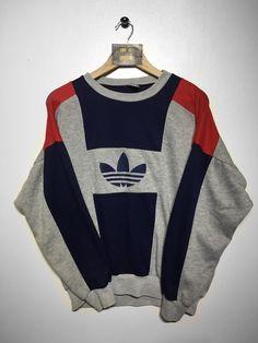 Adidas sweatshirt size large £ 32 website ➡ www. Retro Fashion, Vintage Fashion, Vintage Adidas, Adidas Vintage Jacket, Adidas Outfit, Looks Vintage, Sweater Hoodie, Pulls, Vintage Outfits