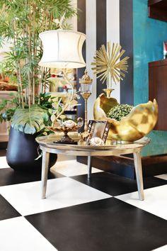 Mesas, lamparas, accesorios, en Home Gallery.