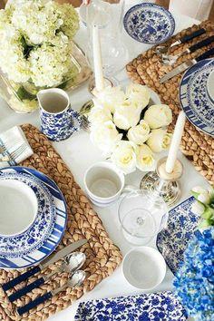Like it....  Wunderschönes blau gemuszertes Geschirr