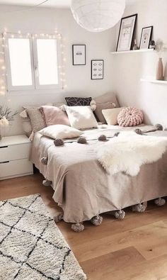 Cute Bedroom Ideas, Girl Bedroom Designs, Modern Bedroom Design, Room Ideas Bedroom, Bedroom Furniture, Bedroom Inspiration, Cute Teen Bedrooms, Teen Rooms, Find Furniture