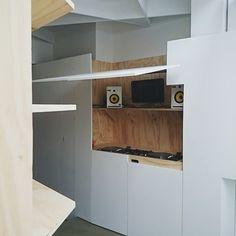#dj #booth #interior #architecture #housing #djbooth #dj-booth  @designmilk @dezeen @designspotter @designobserver  wooden private  dj booth