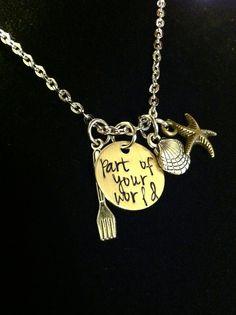 The Little Mermaid inspired necklace Disney Dream, Disney Style, Disney Love, Disney Magic, Cute Jewelry, Jewelry Box, Jewlery, Bling Bling, Disney Jewelry