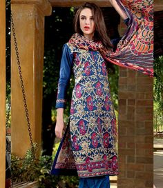 Gul Ahmed Embroidered Chantilly Collection Vol-1 C-172