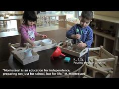 Montessori in action - 1-2.5 years of age classroom - YouTube