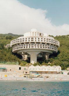 Druzhba Sanatorium in Yalta, Ukraine, designed by Igor Vasilevsky, 1985