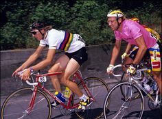 Giro 1989, Maurizio Fondriest and Laurent Fignon http://fr.wikipedia.org