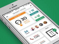 SmartHome Dashboard - iOS7