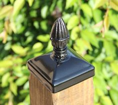 Cast Iron Decorated Egg Post Cap for wood / composite Post, Gate, Fence, Mailbox post Farm Fence, Diy Fence, Pool Fence, Backyard Fences, Fence Ideas, Garden Ideas, Garden Fences, Diy Mailbox, Mailbox Post